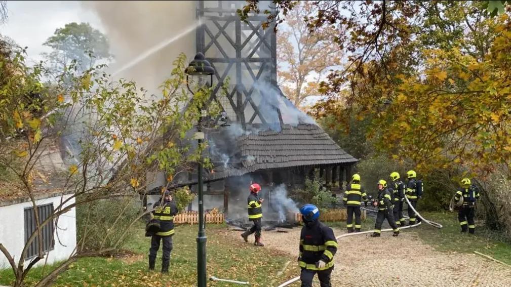 Храм Святого Архангела Михаила в Праге - пожар